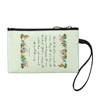 Encouraging Bible Verses Art - Isaiah 51:11 Coin Wallets