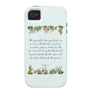 Encouraging Bible Verses Art - Isaiah 61:1 iPhone 4 Cases