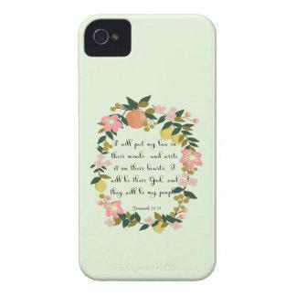 Encouraging Bible Verses Art - Jeremiah 31: 33 Case-Mate iPhone 4 Case