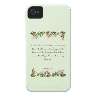 Encouraging Bible Verses Art - Jeremiah 32:40 iPhone 4 Covers