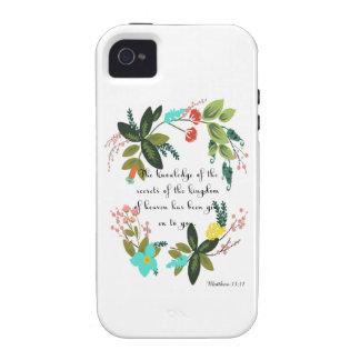 Encouraging Bible Verses Art - Matthew 13:11 iPhone 4/4S Cover
