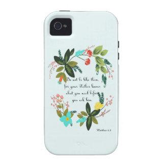 Encouraging Bible Verses Art - Matthew 6:8 iPhone 4 Cover