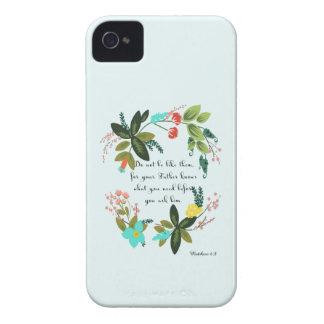 Encouraging Bible Verses Art - Matthew 6:8 Case-Mate iPhone 4 Cases