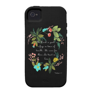 Encouraging Bible Verses Art - Nahum 1:7 Case-Mate iPhone 4 Covers