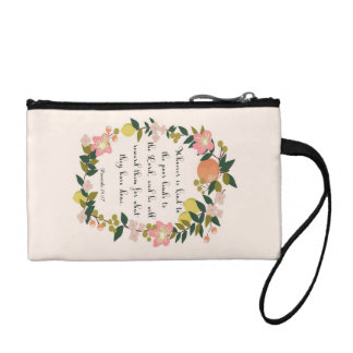 Encouraging Bible Verses Art - Proverbs 19:17 Change Purse