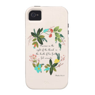 Encouraging Bible Verses Art - Psalm 116:15 Case For The iPhone 4