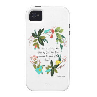 Encouraging Bible Verses Art - Psalm 19:1 Case-Mate iPhone 4 Cases