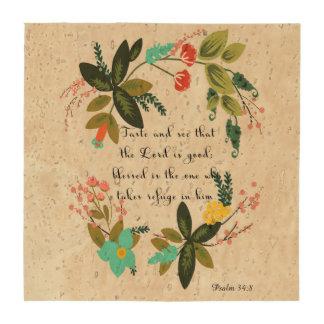 Encouraging Bible Verses Art - Psalm 34:8 Beverage Coaster