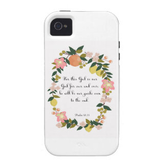 Encouraging Bible Verses Art - Psalm 48:14 iPhone 4/4S Covers
