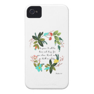Encouraging Bible Verses Art - Psalm 4:8 iPhone 4 Covers