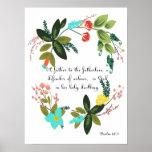 Encouraging Bible Verses Art - Psalm 68:5 Poster