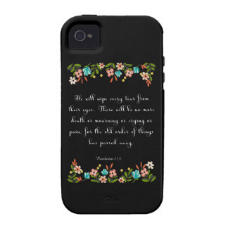 Encouraging Bible Verses Art - Revelation 21:4 Case-Mate iPhone 4 Covers