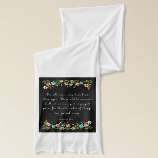 Encouraging Bible Verses Art - Revelation 21:4 Scarf