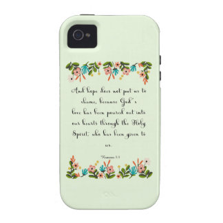 Encouraging Bible Verses Art - Romans 5 5 iPhone 4 Cases