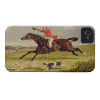 Encouraging Hounds, 1839 (oil on panel) iPhone 4 Case-Mate Case