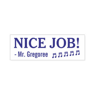 "Encouraging ""NICE JOB!"" Teacher Rubber Stamp"