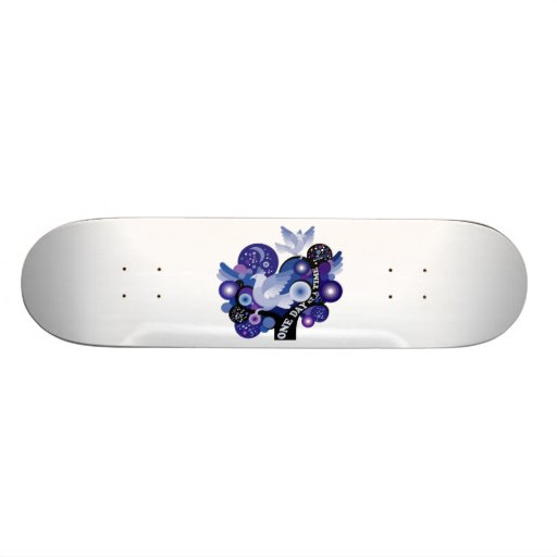 Encouraging One Day A Time Tree Doves Skateboard Decks