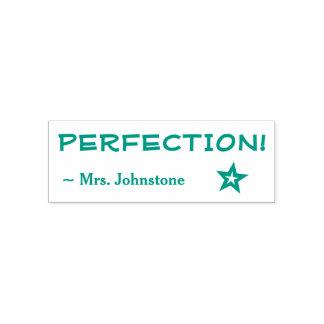 "Encouraging ""PERFECTION!"" + Custom Teacher Name Self-inking Stamp"