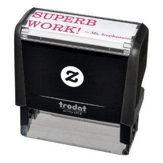 "Encouraging ""SUPERB WORK!"" Educator Rubber Stamp"