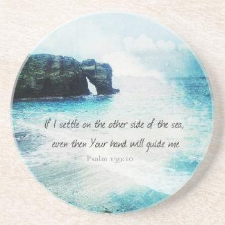Encouraging Uplifting Inspiring Bible Verse Psalm Drink Coasters