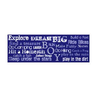 Encouraging Words Boys Bedroom Canvas Wall Art Gallery Wrap Canvas