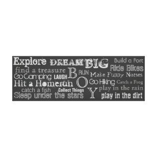 Encouraging Words Boys Bedroom Canvas Wall Art Canvas Print