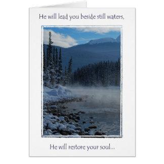 encouragment greeting card, Psalms 23 Card