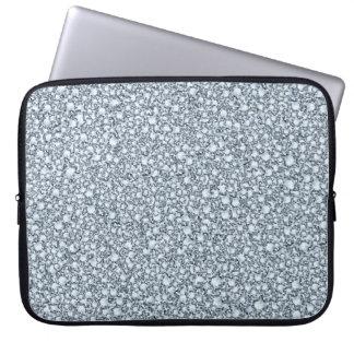 Encrusted Diamonds Look Glitter Patter Computer Sleeves
