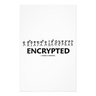 Encrypted (Dancing Men Stick Figures Cipher) Custom Stationery