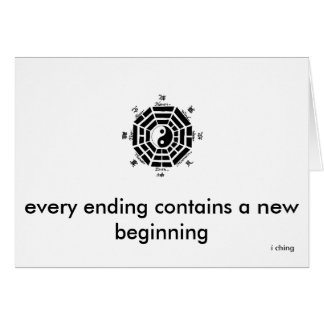 end and begin note card