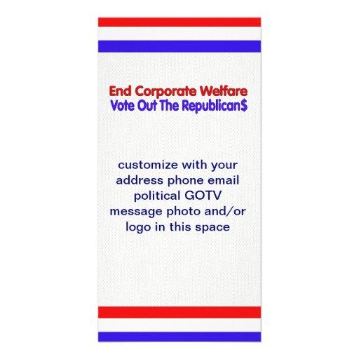 END CORPORATE WELFARE PHOTO GREETING CARD