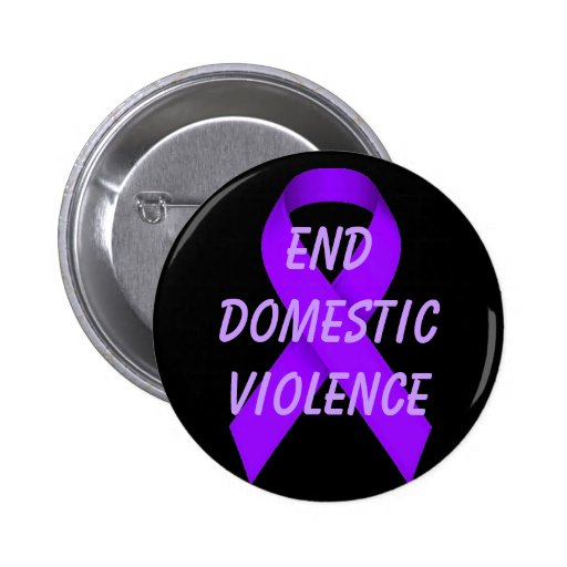 End domestic violence pinback button