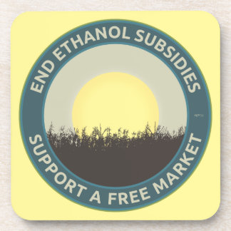 End Ethanol Subsidies Beverage Coaster