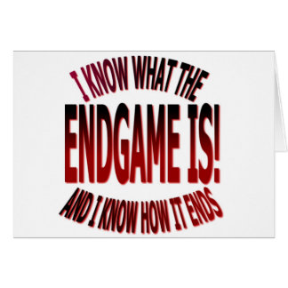 END GAME GREETING CARD