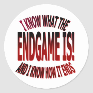 END GAME ROUND STICKERS