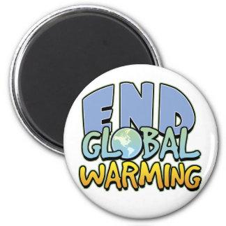 End Global Warming 6 Cm Round Magnet