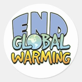 End Global Warming Round Sticker