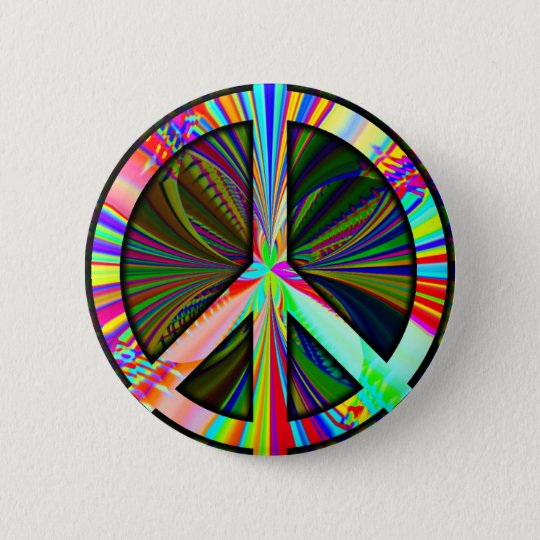 End Iraq War Peace Sign Button