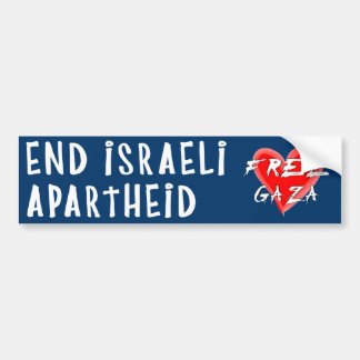 End Israeli Apartheid Free Gaza Bumper Sticker