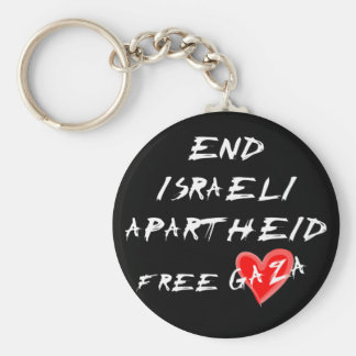 End Israeli Apartheid Free Gaza Key Ring