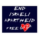 End Israeli Apartheid Free Gaza Postcards