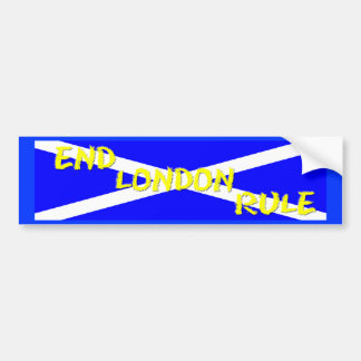 End London Rule Bumper Sticker