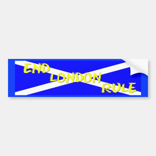 End London Rule Bumper Sticker