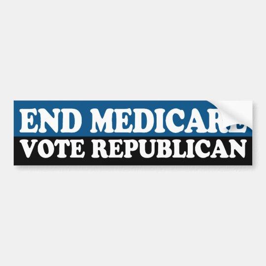 End Medicare: Vote Republican Bumper Sticker