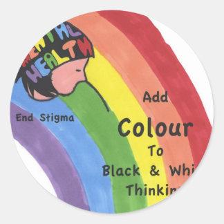 End Mental Health Stigma Round Sticker