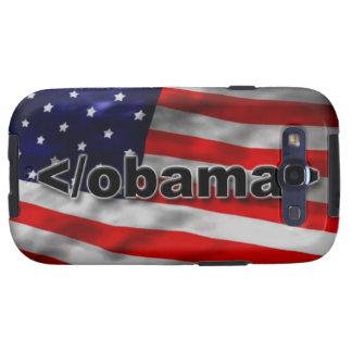 End Obama Code Black on White Samsung Galaxy SIII Case