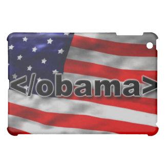 End Obama Code Black on White iPad Mini Cover