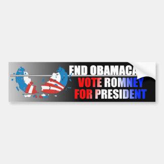 END OBAMACARE - Vote Romney For President Bumper Sticker
