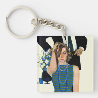 End of a Marriage Double-Sided Square Acrylic Key Ring