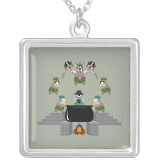 End of Capitalism - Penguin Silver Plated Necklace
